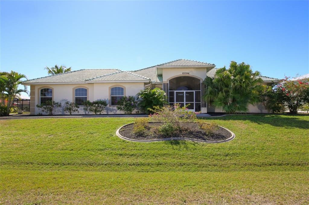 Front of Home - Single Family Home for sale at 15794 Viscount Cir, Port Charlotte, FL 33981 - MLS Number is D5916496