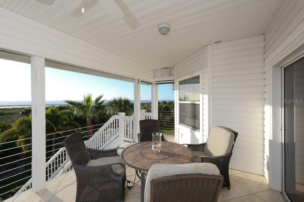Upstairs Lanai - Single Family Home for sale at 7020 Palm Island Dr, Placida, FL 33946 - MLS Number is D5917629
