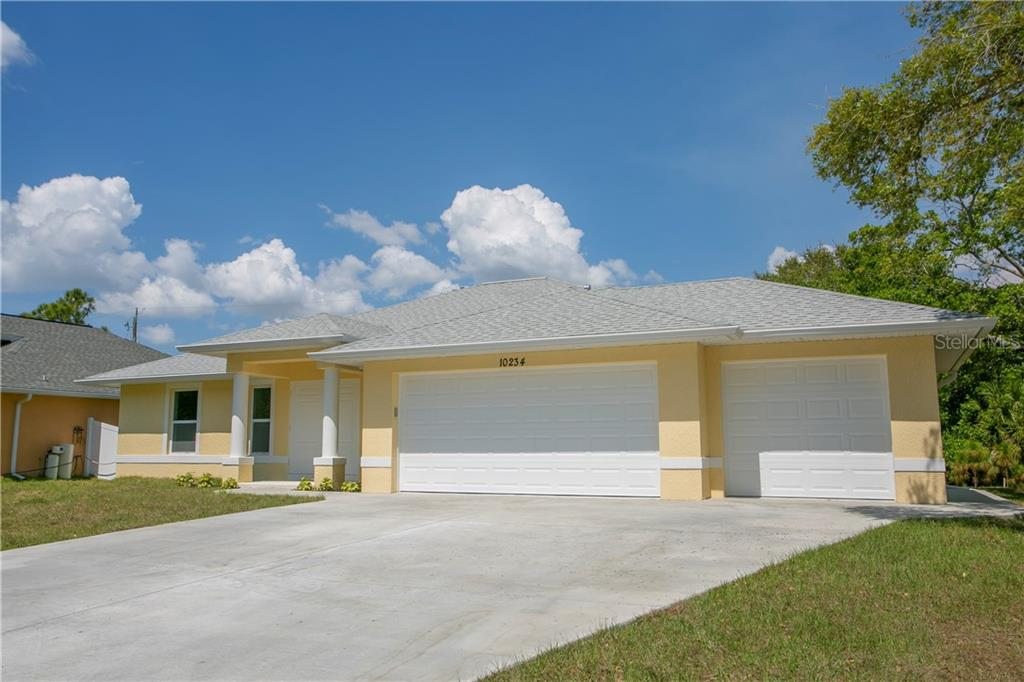 Floor plan w/ Optional Pool - Single Family Home for sale at 10234 Bay Ave, Englewood, FL 34224 - MLS Number is D6102706
