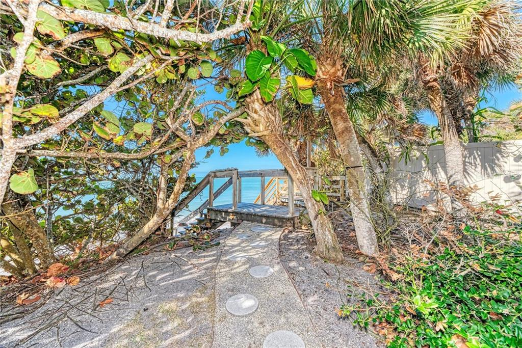 One of two access points for the beach. - Single Family Home for sale at 7400 Manasota Key Rd, Englewood, FL 34223 - MLS Number is D6104362