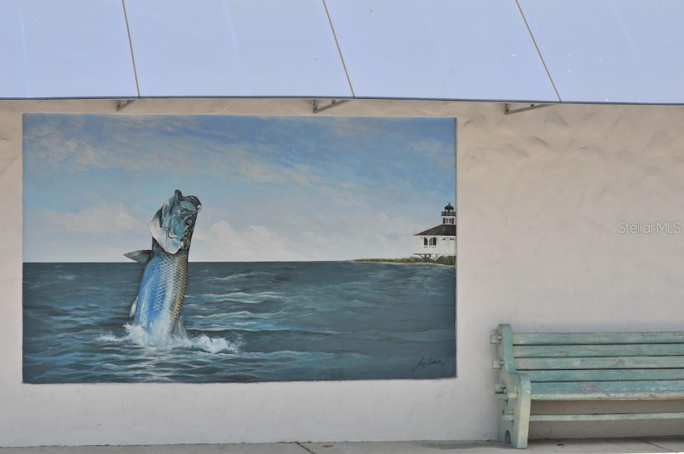 Mural on post office wall- downtown Boca Grande - Single Family Home for sale at 5820 Gasparilla Rd #Slip 21, Boca Grande, FL 33921 - MLS Number is D6107785