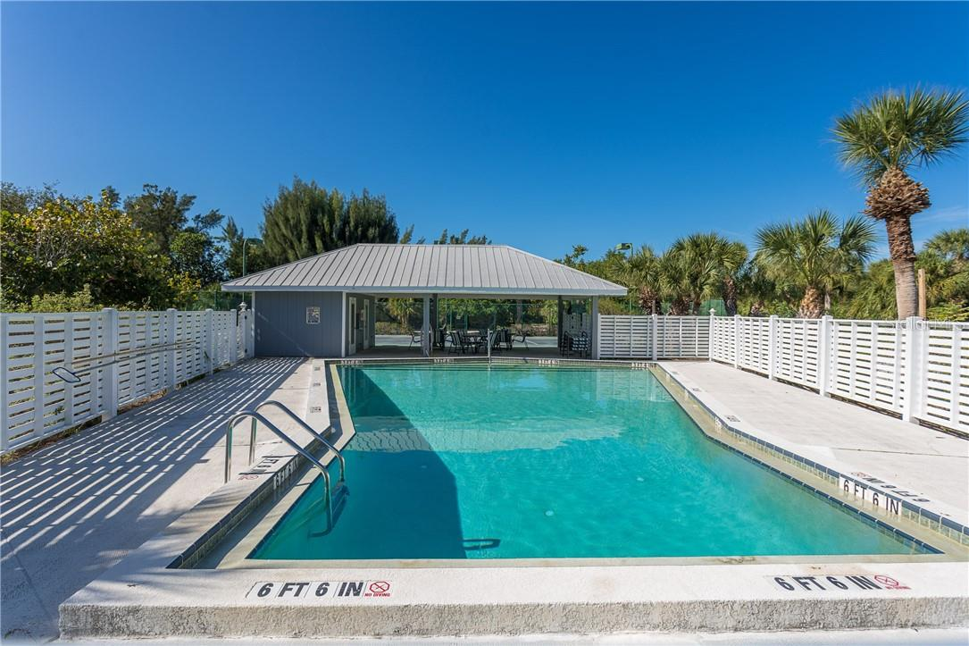 Community Pool Area. - Single Family Home for sale at 5 Pointe Way, Placida, FL 33946 - MLS Number is D6110468