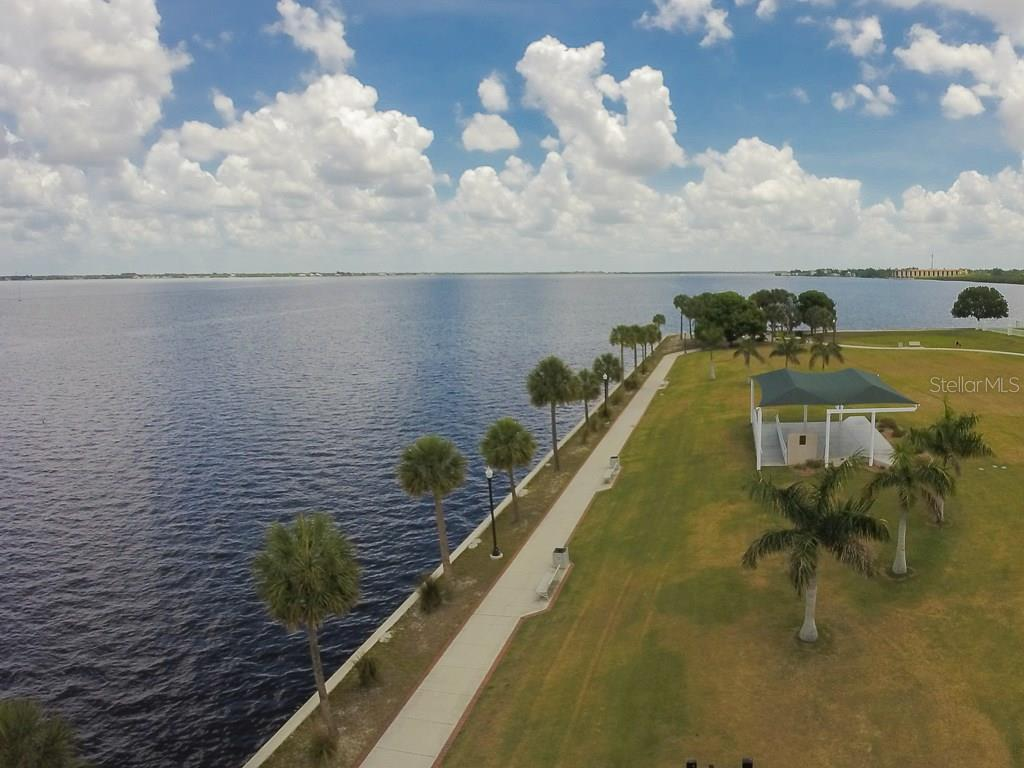 Walking, jogging, biking path for approximately 3 miles along Charlotte Harbor - Vacant Land for sale at 2280 Palm Tree Dr, Punta Gorda, FL 33950 - MLS Number is C7232729