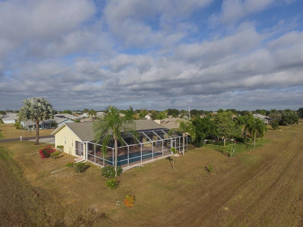 Rear birdseye - Single Family Home for sale at 2332 Mauritania Rd, Punta Gorda, FL 33983 - MLS Number is C7234250