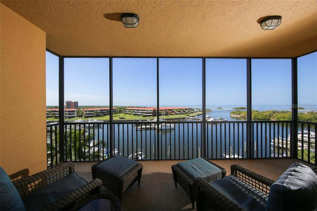 The view does not get much better than this!  As you sit on the lanai, you can see out to Pine Island Sound, Charlotte Harbor and Boca Grande Pass.  What a treat watching the ever changing scenery! - Condo for sale at 3313 Sunset Key Cir #402, Punta Gorda, FL 33955 - MLS Number is C7236886