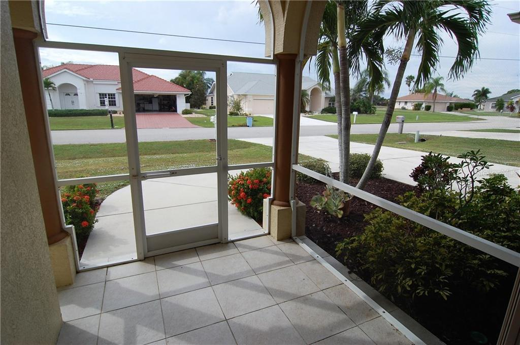 Front screened entrance - Single Family Home for sale at 7376 Schefflera, Punta Gorda, FL 33955 - MLS Number is C7245991