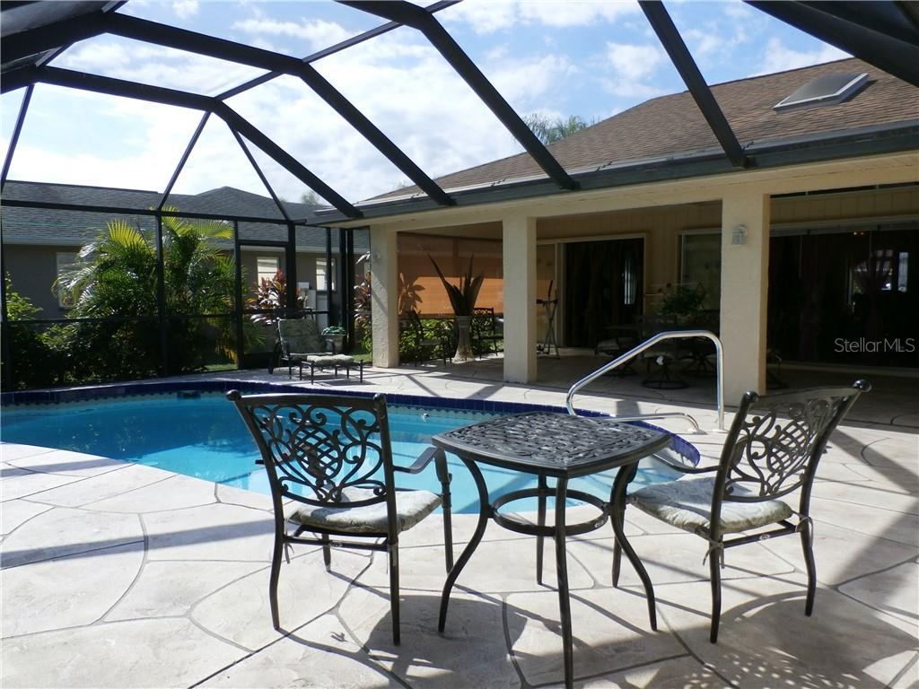 opposite view pool area - Single Family Home for sale at 416 Bahia Grande Ave, Punta Gorda, FL 33983 - MLS Number is C7408301