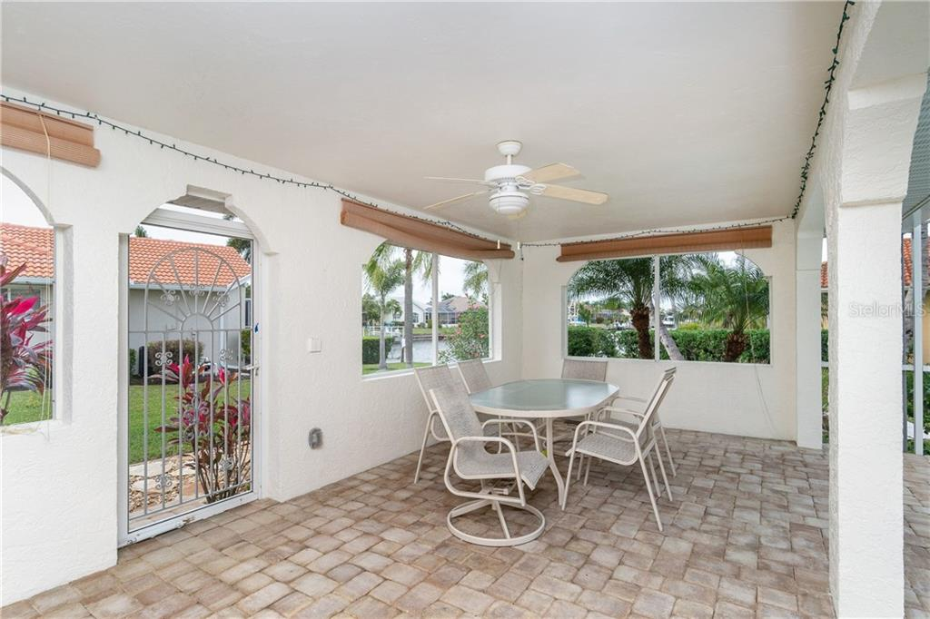 LOVE this outside living area with view of waterfront! - Single Family Home for sale at 572 Toulouse Dr, Punta Gorda, FL 33950 - MLS Number is C7411184