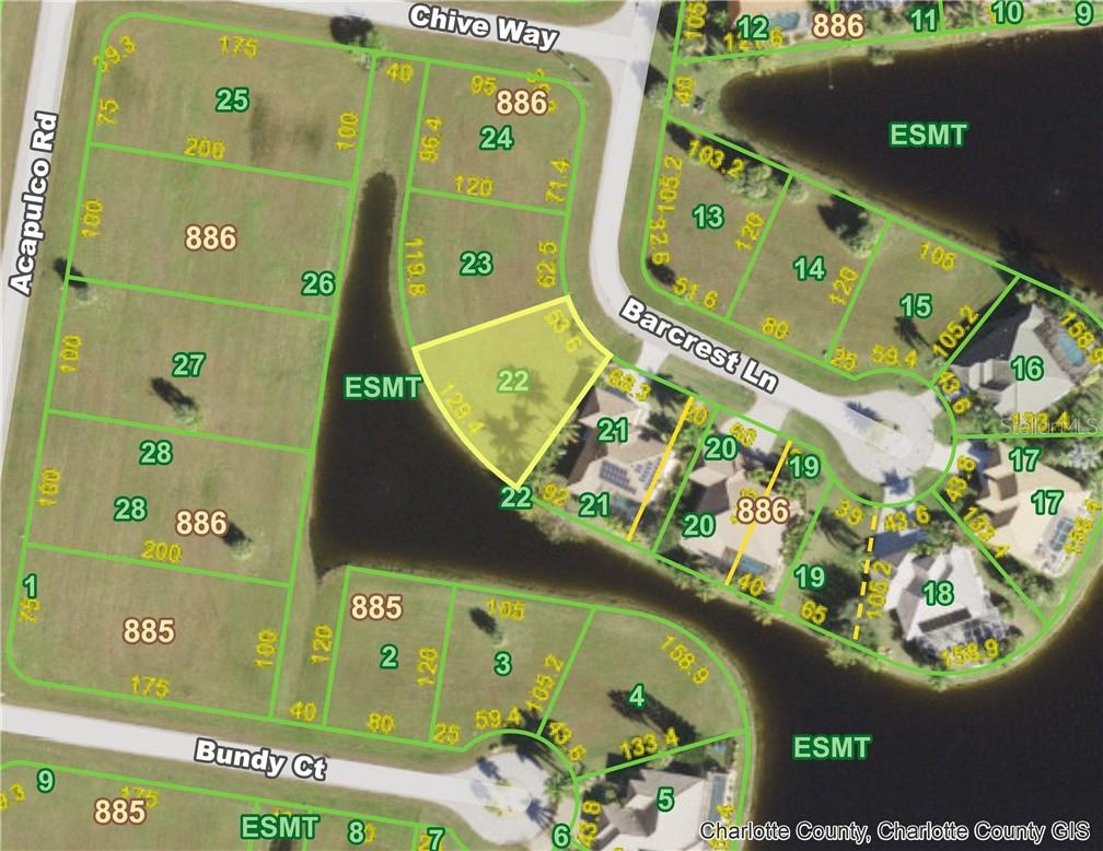 Nice south west exposure - Vacant Land for sale at 17190 Barcrest Ln, Punta Gorda, FL 33955 - MLS Number is C7438627