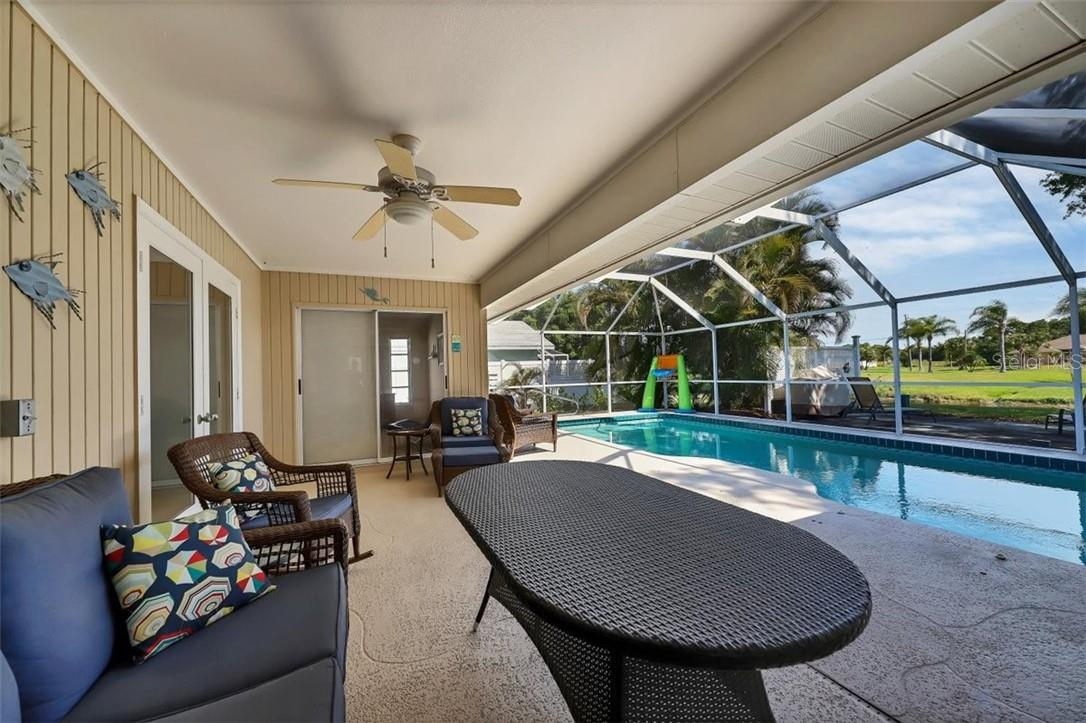 alternate view of lanai - Single Family Home for sale at 116 Mariner Ln, Rotonda West, FL 33947 - MLS Number is C7441260