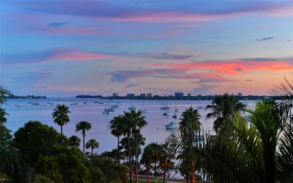 Sunset views over Sarasota Bay looking towards Lido Key - Condo for sale at 500 S Palm Ave #41, Sarasota, FL 34236 - MLS Number is A4144835