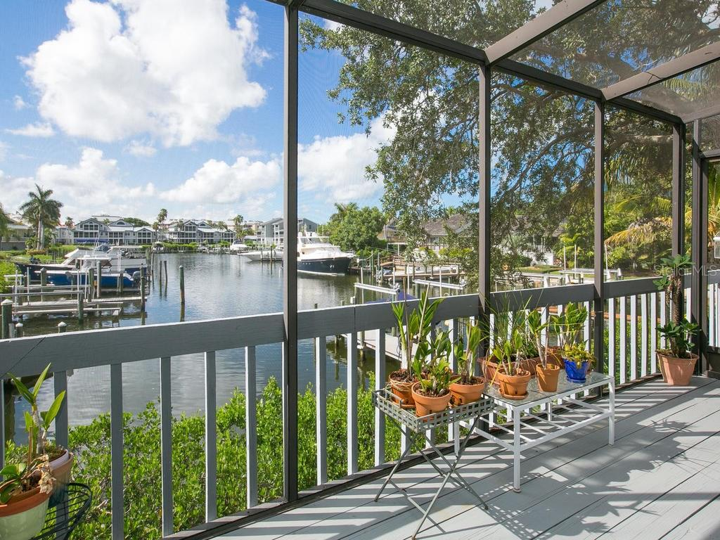 Screened balcony - Single Family Home for sale at 1272 Riegels Landing Dr, Sarasota, FL 34242 - MLS Number is A4160033