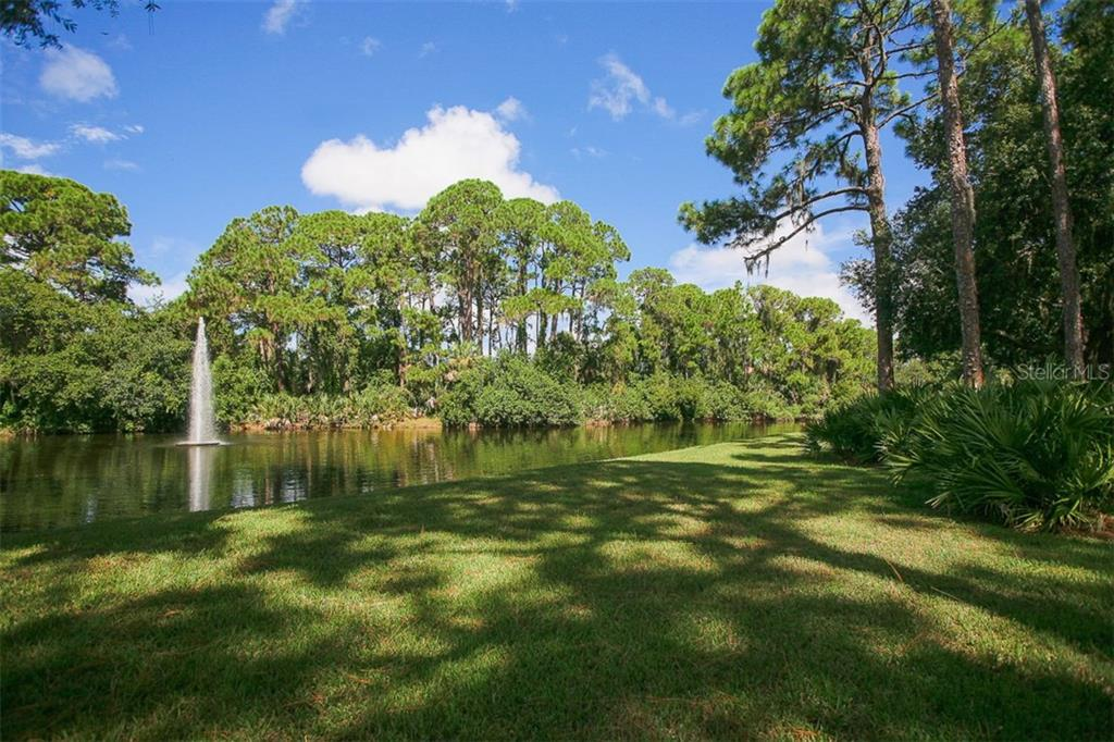 Community fountain - Condo for sale at 7631 Fairway Woods Dr #601, Sarasota, FL 34238 - MLS Number is A4168292