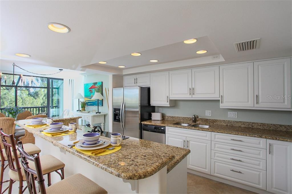 Enjoy cooking in your kitchen - Condo for sale at 4900 Ocean Blvd #503, Sarasota, FL 34242 - MLS Number is A4171070
