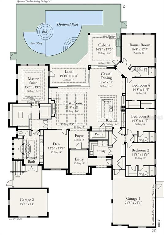 Floor Plan - Single Family Home for sale at 5392 Greenbrook Dr, Sarasota, FL 34238 - MLS Number is A4178457