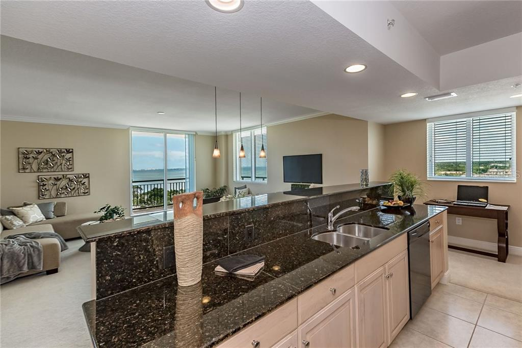 Commanding views from the balcony. - Condo for sale at 800 N Tamiami Trl #1201, Sarasota, FL 34236 - MLS Number is A4184297