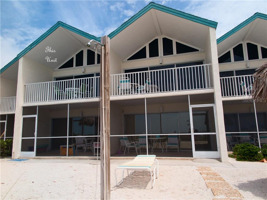Coconuts Gulf side.  Entry is on other side of Building - Condo for sale at 100 73rd St #202a, Holmes Beach, FL 34217 - MLS Number is A4184505