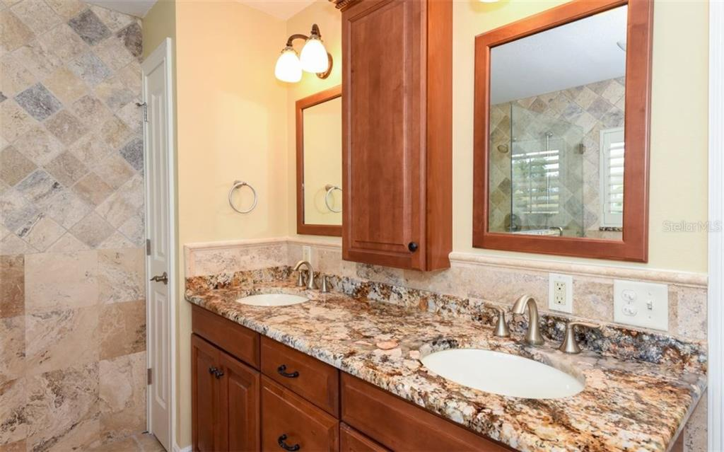 Dual sinks Master bath. - Single Family Home for sale at 1627 Shelburne Ln, Sarasota, FL 34231 - MLS Number is A4184556