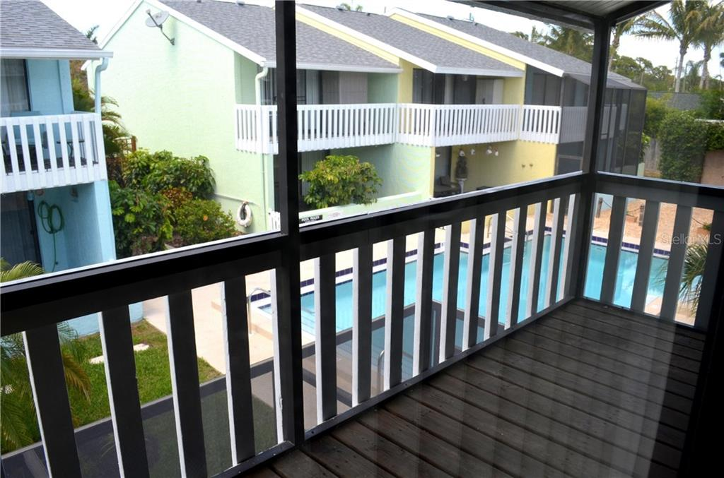 Master Bedroom patio -screened in - Condo for sale at 1749 Dawn St S #303, Sarasota, FL 34231 - MLS Number is A4186116