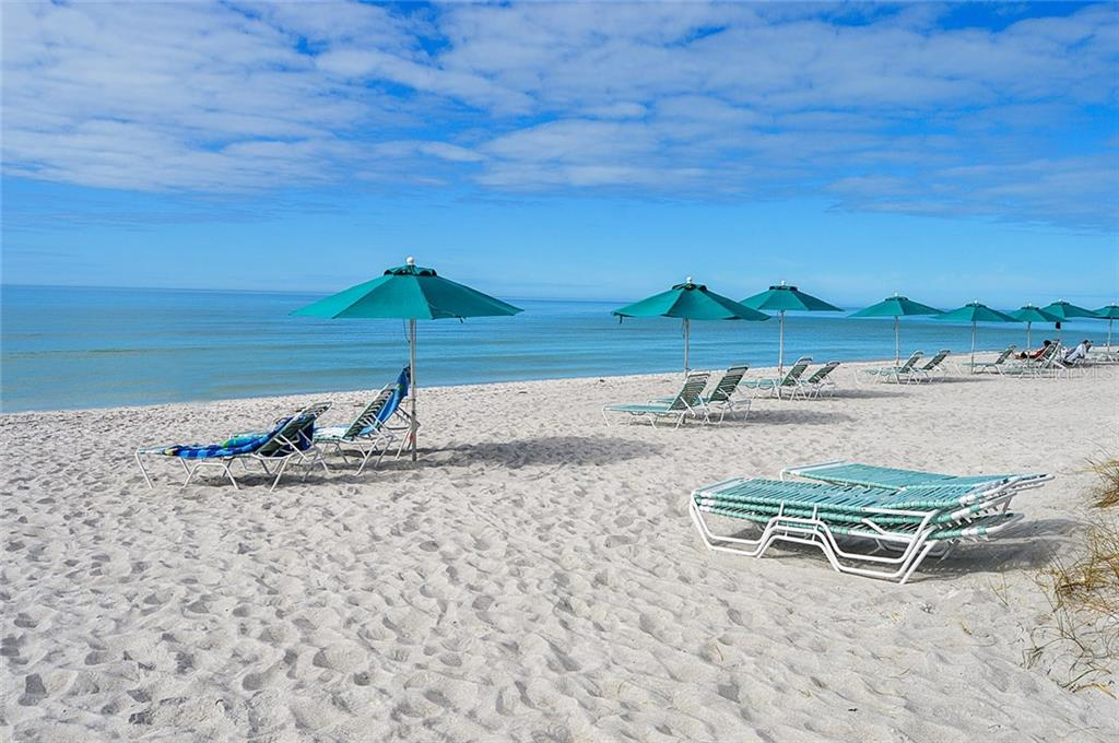 Beach-chair & umbrellas - Condo for sale at 4621 Gulf Of Mexico Dr #11c, Longboat Key, FL 34228 - MLS Number is A4187979