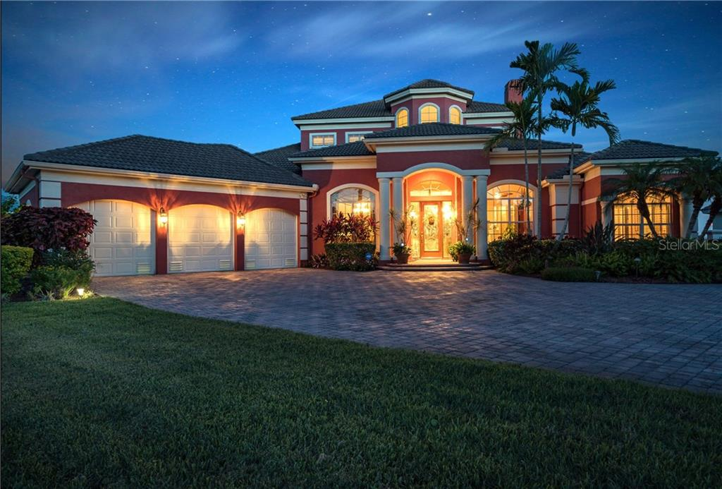 Twilight View - Single Family Home for sale at 370 Highland Shores Dr, Ellenton, FL 34222 - MLS Number is A4188456