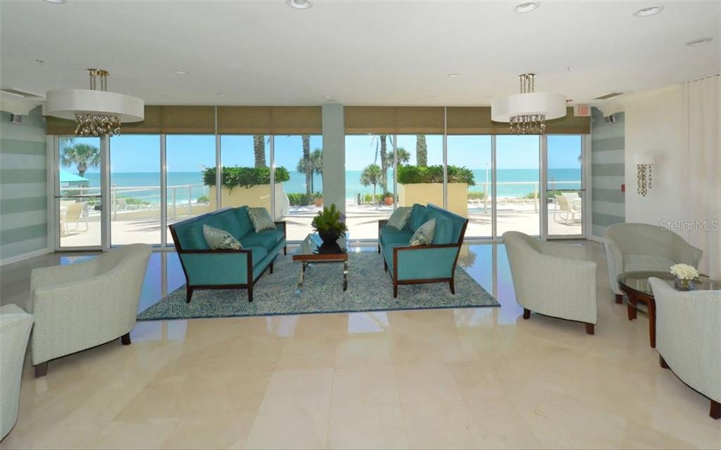 Newly remodeled lobby - Condo for sale at 1800 Benjamin Franklin Dr #b507, Sarasota, FL 34236 - MLS Number is A4188540