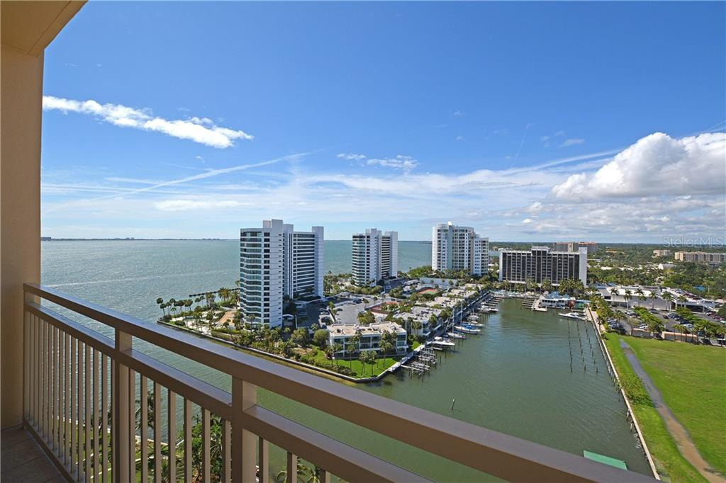 Breathtaking views from the private balcony. - Condo for sale at 1111 Ritz Carlton Dr #1505, Sarasota, FL 34236 - MLS Number is A4188921