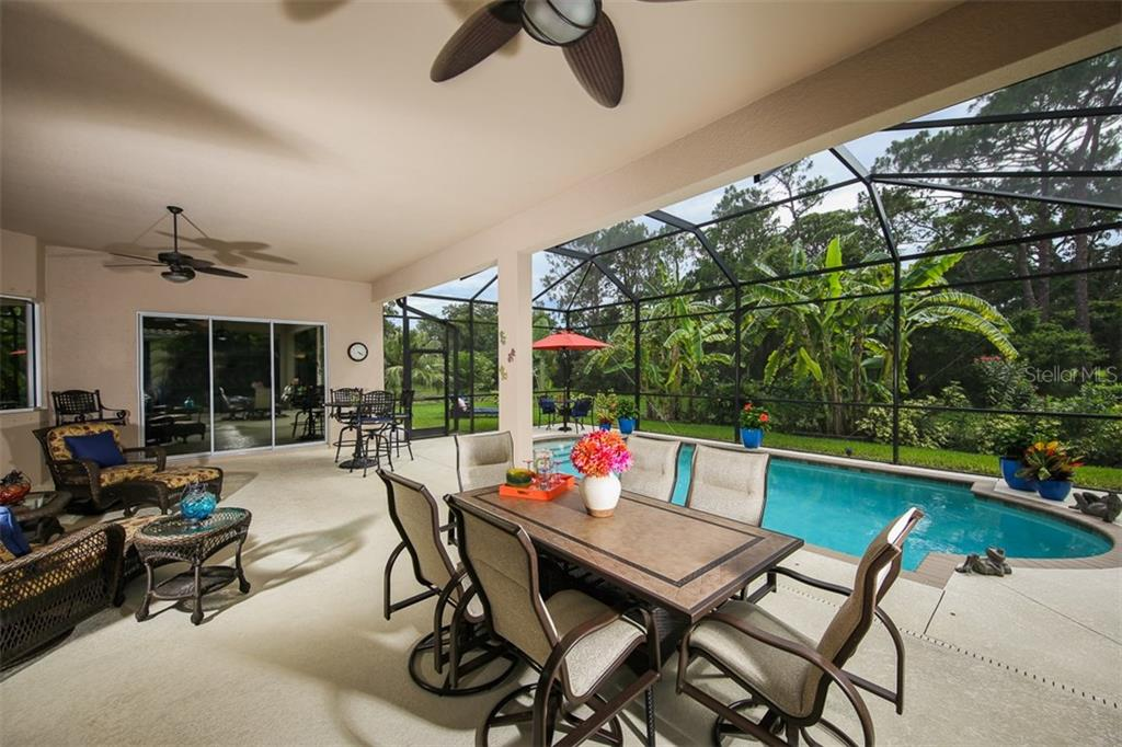 Oversized Lanai Provides Ideal Outdoor Living & Entertaining Spaces - Single Family Home for sale at 5770 Rock Dove Dr, Sarasota, FL 34241 - MLS Number is A4190439