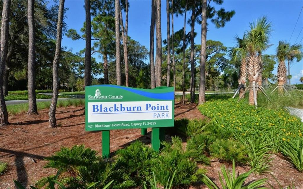 Blackburn Point Park, across the road - Condo for sale at 104 Woodland Pl #104, Osprey, FL 34229 - MLS Number is A4190676