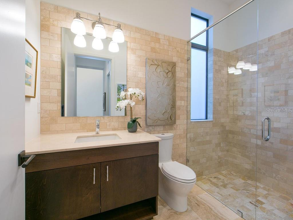 Downstairs guest bathroom! - Single Family Home for sale at 2315 Mietaw Dr, Sarasota, FL 34239 - MLS Number is A4191514