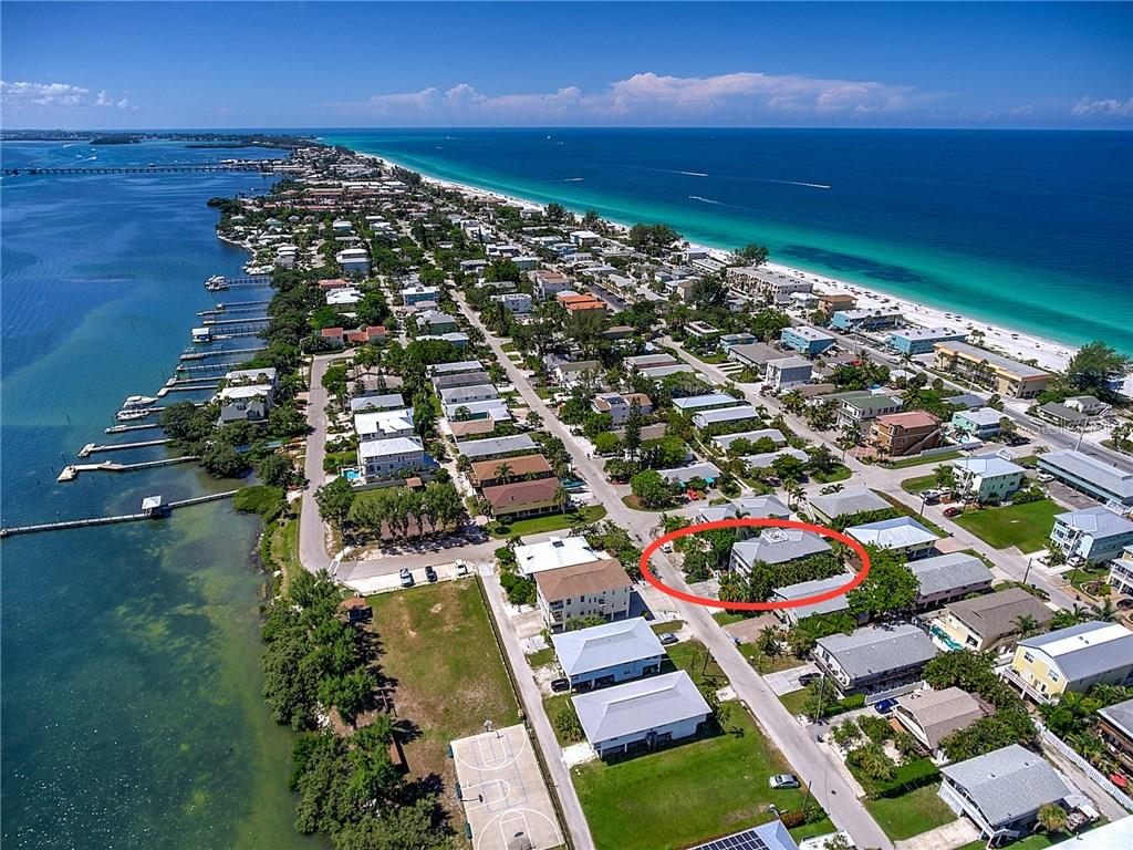 Aerial View - Single Family Home for sale at 2502 Avenue B, Bradenton Beach, FL 34217 - MLS Number is A4191682