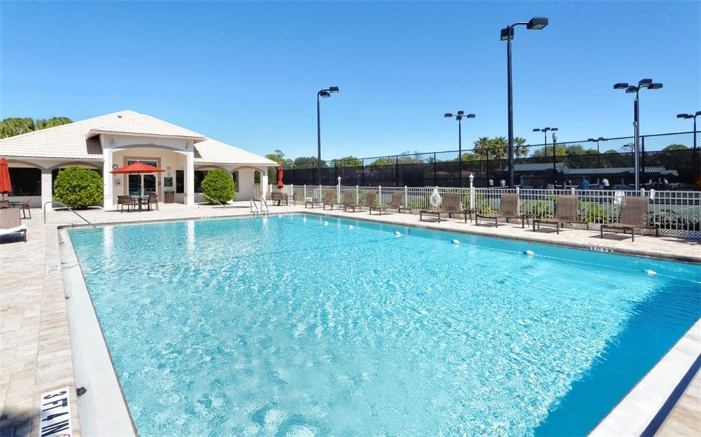 Stoneybrook Golf & Country Club community heated pool, spa, fitness center and tennis courts. - Condo for sale at 9300 Clubside Cir #1201, Sarasota, FL 34238 - MLS Number is A4192821