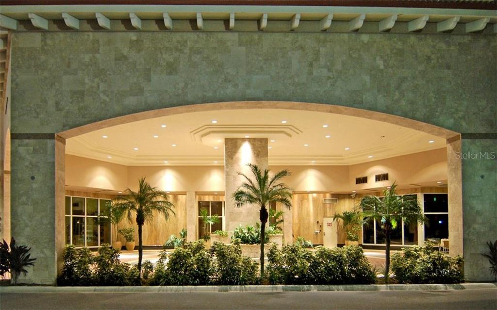 PORTICO: CIRCULAR DRIVEWAY: FRONT DOORS - Condo for sale at 100 Central Ave #h716, Sarasota, FL 34236 - MLS Number is A4193586