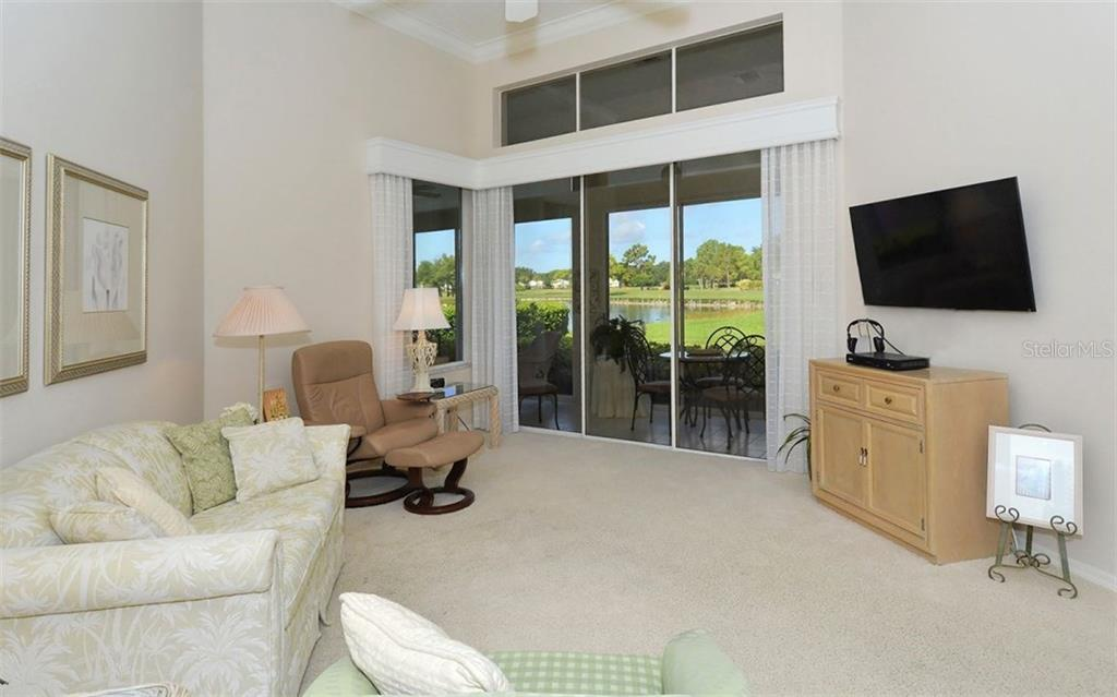 Inviting views from Living Room - Villa for sale at 604 Crossfield Cir #31, Venice, FL 34293 - MLS Number is A4193953