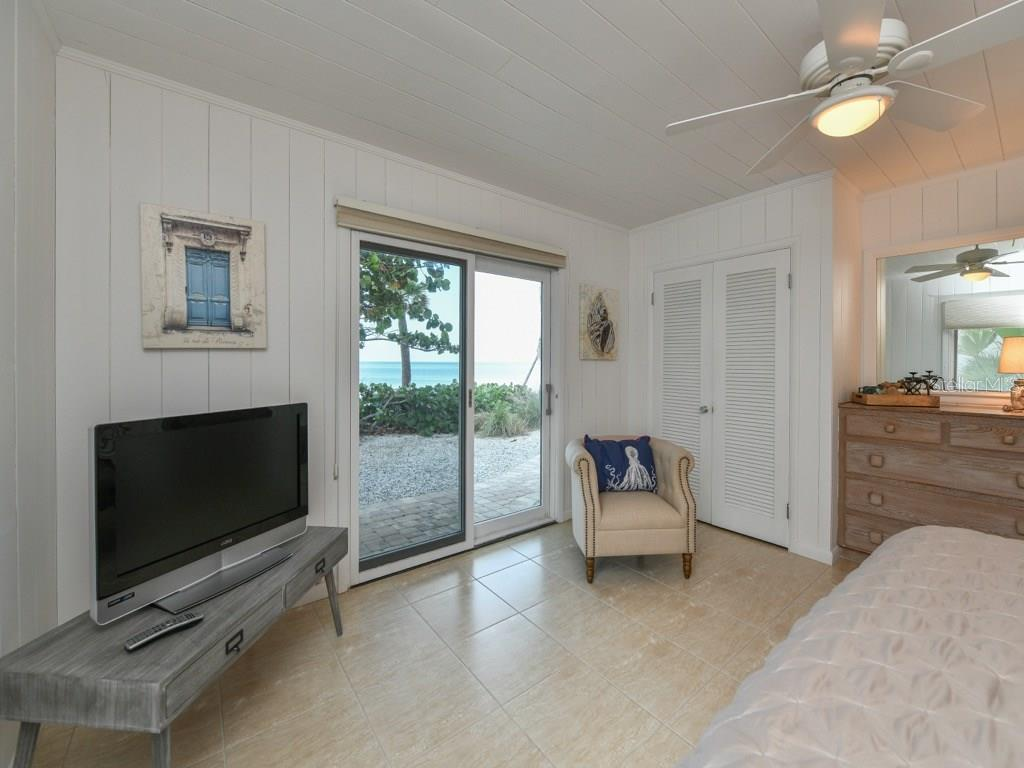 Master Bedroom Gulf View - Single Family Home for sale at 418 N Casey Key Rd, Osprey, FL 34229 - MLS Number is A4198549