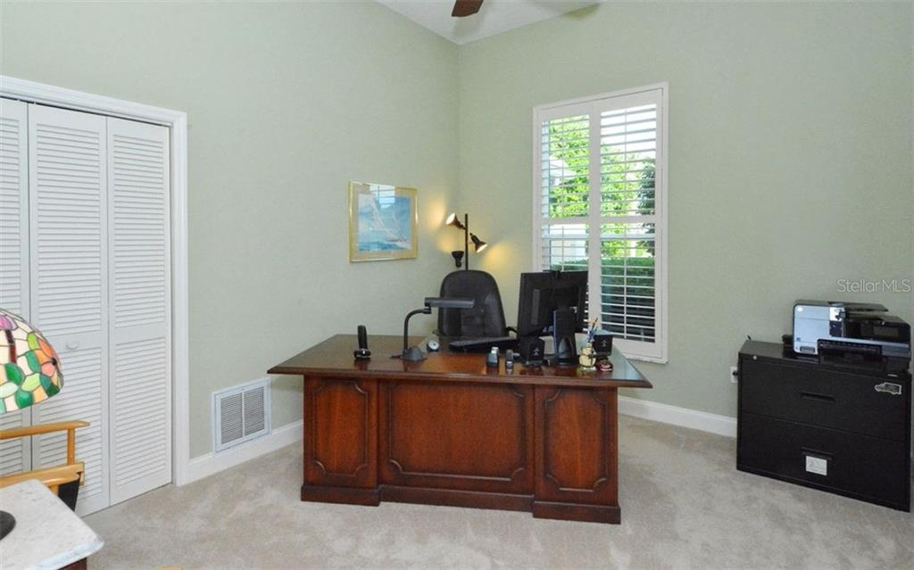4th bedroom being used as an office - Single Family Home for sale at 3882 Spyglass Hill Rd, Sarasota, FL 34238 - MLS Number is A4206477