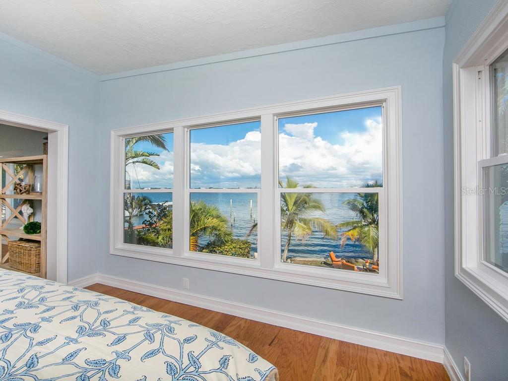 Master bedroom with Intracoastal views - Single Family Home for sale at 8101 Midnight Pass Rd, Sarasota, FL 34242 - MLS Number is A4206718