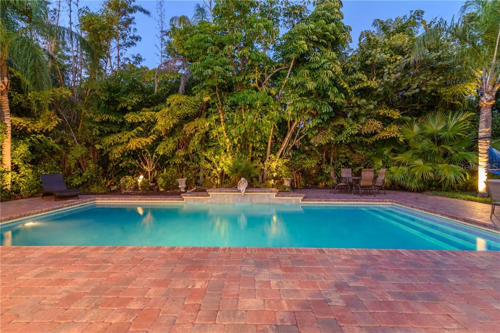 Swimming pool with brick lanai - Single Family Home for sale at 141 Ogden St, Sarasota, FL 34242 - MLS Number is A4208039