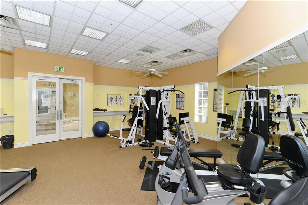 Well equipped fitness center. - Condo for sale at 5242 Parisienne Pl #201bd30, Sarasota, FL 34238 - MLS Number is A4208770