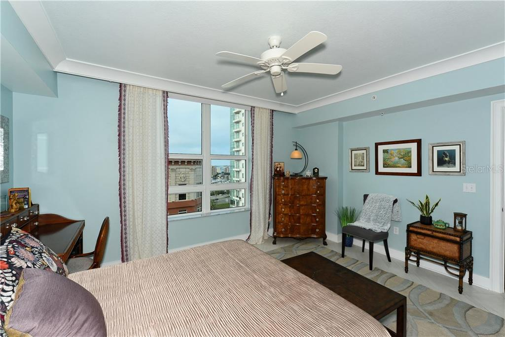 Spacious Master Bedroom. - Condo for sale at 1350 Main St #1106, Sarasota, FL 34236 - MLS Number is A4209424