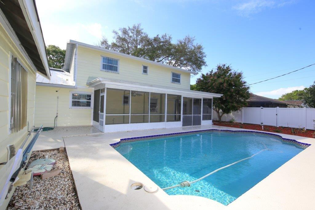 Beautiful pool with the privacy of a fenced yard.  New pool pump last year. - Single Family Home for sale at 4417 Garcia Ave, Sarasota, FL 34233 - MLS Number is A4213473