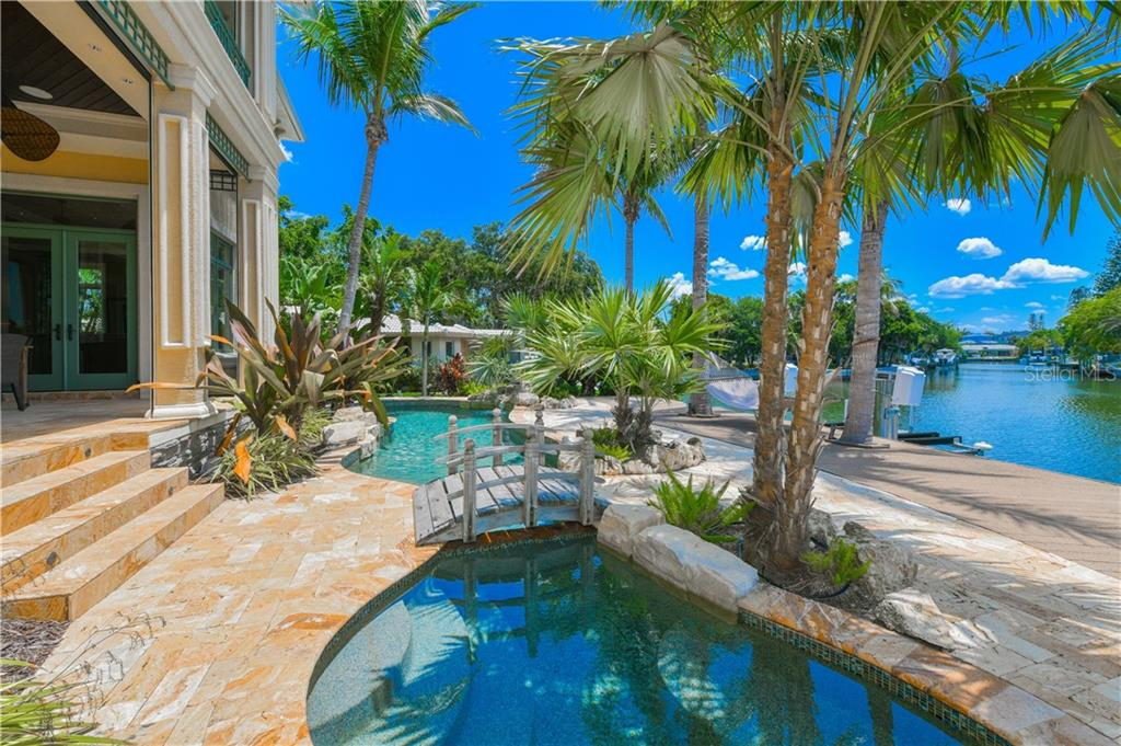 Pool Spa with deck and dock to boat lift - Single Family Home for sale at 506 Venice Ln, Sarasota, FL 34242 - MLS Number is A4402493
