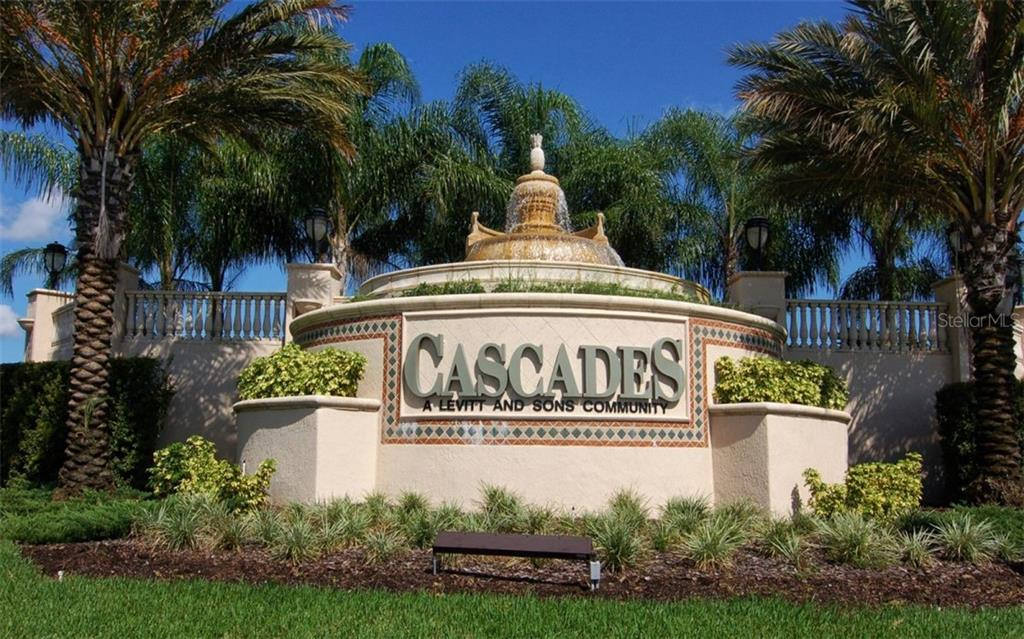 Entrance to Gated Cascades - Single Family Home for sale at 6507 42nd St E, Sarasota, FL 34243 - MLS Number is A4404611