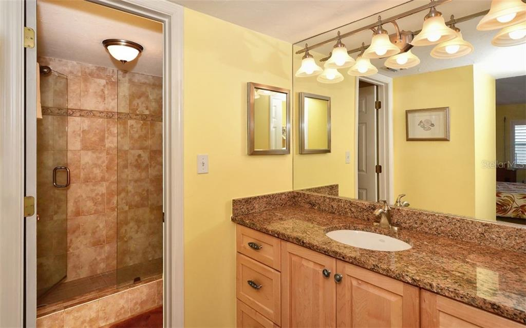 Updated master shower - Condo for sale at 4311 Gulf Of Mexico Dr #601, Longboat Key, FL 34228 - MLS Number is A4405195