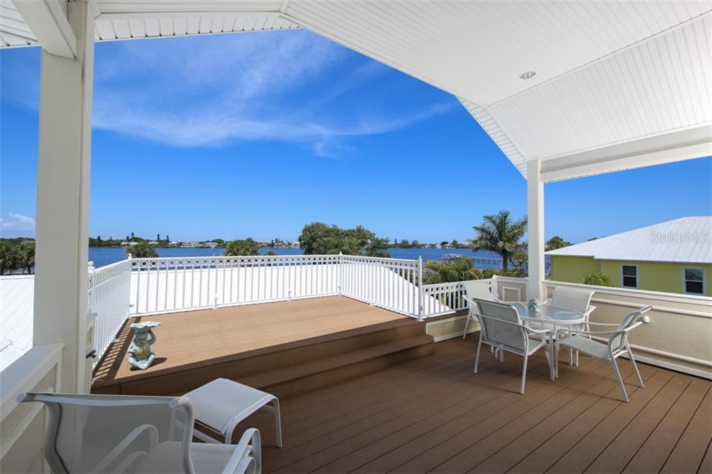 Large 2 tier Deck Overlooking the Bay - Single Family Home for sale at 1778 Bayshore Dr, Englewood, FL 34223 - MLS Number is A4405962