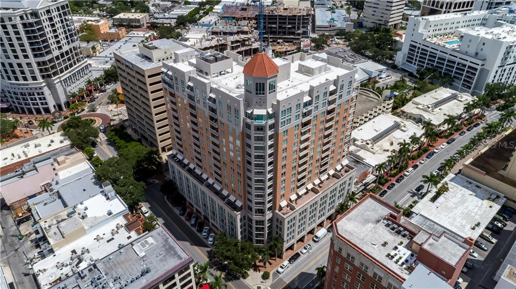 Drone picture of 1350 Main - Condo for sale at 1350 Main St #1510, Sarasota, FL 34236 - MLS Number is A4412247
