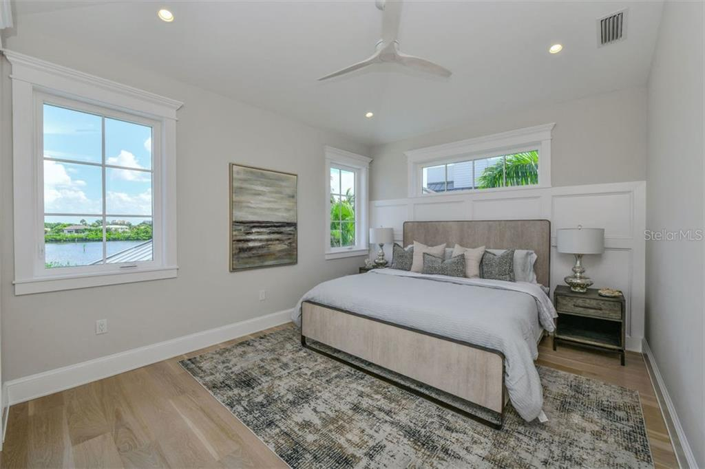 Bedroom 3 on 3rd level. - Single Family Home for sale at 3470 Gulf Of Mexico Dr, Longboat Key, FL 34228 - MLS Number is A4415298