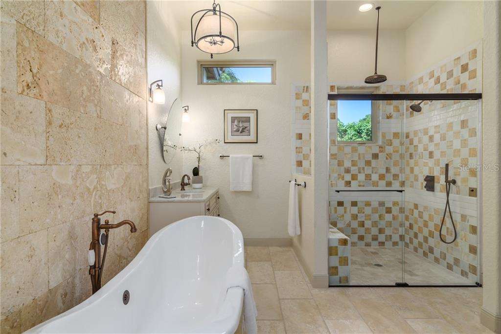Master Bath and Separate Shower - Single Family Home for sale at 1019 S Osprey Ave, Sarasota, FL 34236 - MLS Number is A4415337