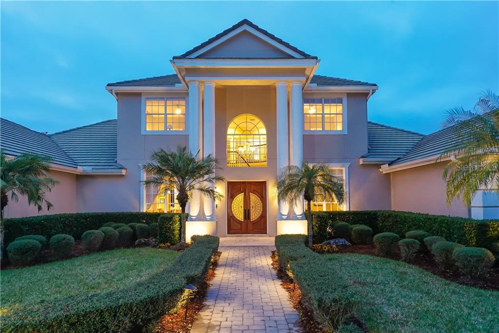Majestic entrance - Single Family Home for sale at 7698 Albert Tillinghast Dr, Sarasota, FL 34240 - MLS Number is A4416123
