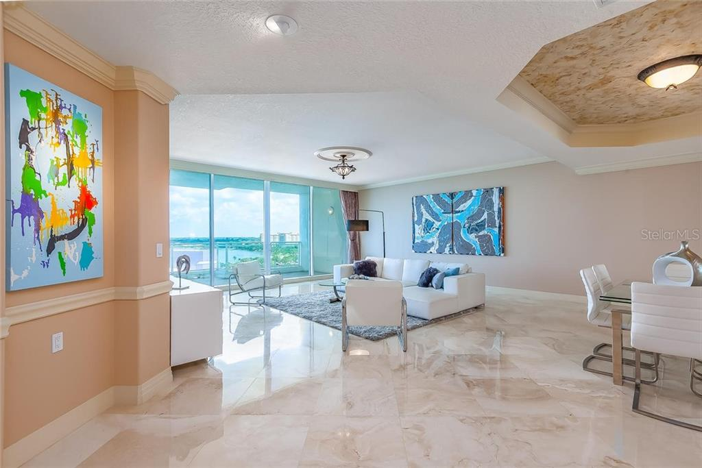 Foyer entry to the bayfront - Condo for sale at 990 Blvd Of The Arts #1102, Sarasota, FL 34236 - MLS Number is A4417004